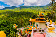 Chinese temple among the beautiful pristine nature Stock Images