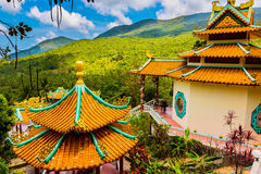 Chinese temple among the beautiful pristine nature Royalty Free Stock Photos