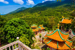 Chinese temple among the beautiful pristine nature Stock Image