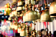 Chinese temple bell hanging in the evening. Chinese temple bell hanging in the evening in soft light Royalty Free Stock Images