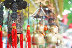 Chinese temple bell hanging in the evening. Chinese temple bell hanging in the evening in soft light Royalty Free Stock Photo