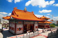 Chinese temple with blue sky in Bangkok Stock Image