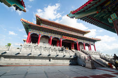 Chinese temple. With blue sky in Thailand Royalty Free Stock Photography