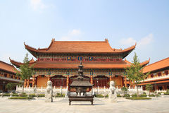 Chinese temple building Royalty Free Stock Images