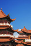 Chinese temple building Royalty Free Stock Image