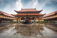 Chinese temple building Royalty Free Stock Photography