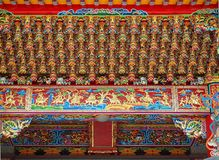 Chinese Temple Ceiling with Intricate Decorations Royalty Free Stock Photography
