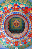 Chinese temple ceiling Royalty Free Stock Image