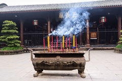 Chinese Temple. At Chengdu city, China Stock Photography
