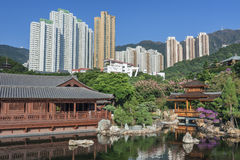 Chinese Temple. Chi Lin Nunnery in Hong Kong Stock Image