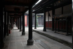 Chinese temple. China, Beijing, courtyard of Lama Temple royalty free stock photos