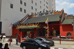 Chinese temple China town Malaysia. A beautiful and very popular chinese Temple in Chinatown, Kuala Lumper Malaysia Royalty Free Stock Images