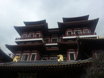 Chinese temple at chinatown sg. Old architecture ancient royalty free stock photos