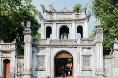Chinese temple in the city centre of Hanoi royalty free stock photos