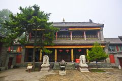 Chinese temple courtyard Royalty Free Stock Images