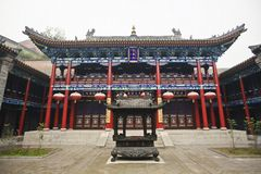 Chinese temple courtyard Stock Images