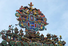 Chinese temple decoration. Decoration on a Chinese temple in Penang, Malaysia Stock Photography