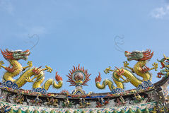 Chinese temple decorations Royalty Free Stock Photography