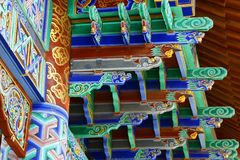 Chinese temple. Detail of colorful chinese temple stock photos