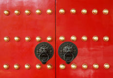 Chinese temple door Stock Images