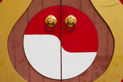 Chinese Temple Door Royalty Free Stock Photography