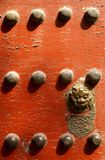 Chinese temple door Stock Photo