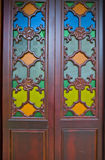 Chinese Temple door in guangzhou city. With Chinese characteristics in the door Stock Photography