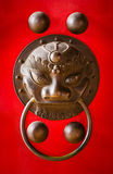 Chinese temple door handle Royalty Free Stock Images
