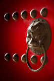 Chinese temple door handle Royalty Free Stock Image