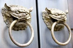 Chinese Temple Door Knobs. Image of Chinese temple door knobs Royalty Free Stock Photos