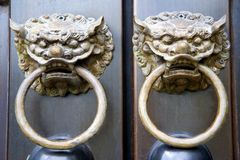 Chinese Temple Door Knobs Stock Photo