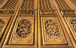 Chinese temple door, Kunming, Yunnan. Detail of traditional Chinese door at temple, Kunming, Yunnan Stock Photography