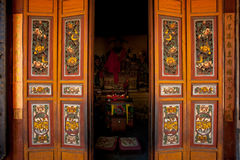 Chinese Temple Doors Altar Royalty Free Stock Image