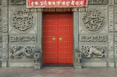 Chinese Temple Doors, George Town, Penang, Malaysia Royalty Free Stock Photography