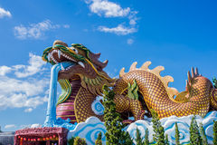 Chinese Temple. Dragon statue in Chinese temple royalty free stock photography
