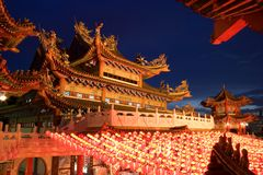 Chinese Temple at Dusk royalty free stock photos