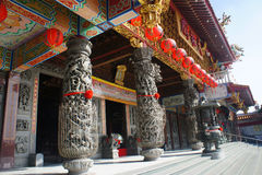 Chinese temple entrance Stock Photo