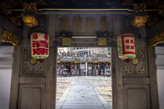 Chinese Temple Entrance in Singapore. Entrance to a Chinese temple in Singapore Royalty Free Stock Photos