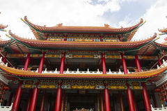 Chinese temple. The exterior architecture of chinese temple monastery Royalty Free Stock Photo