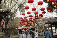 Chinese lantern fair daytime Royalty Free Stock Photo