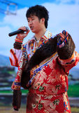 Chinese Temple Fair performance royalty free stock image