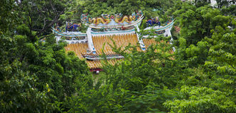 Chinese temple in the forest Royalty Free Stock Image