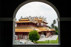 Chinese Temple in frame Royalty Free Stock Photography