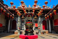 Chinese temple in Fujian royalty free stock image