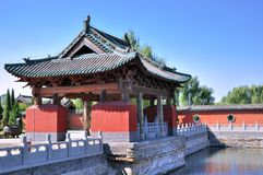 Chinese temple garden in traditional style Royalty Free Stock Images