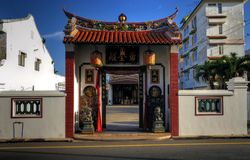 Chinese Temple Gate Royalty Free Stock Image