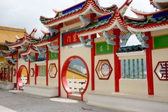 Chinese temple gateway Royalty Free Stock Image