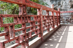 Chinese temple handrail Royalty Free Stock Image