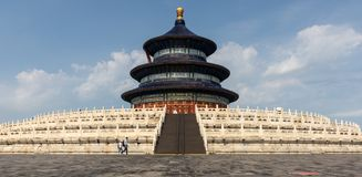 Chinese Temple of Heaven Hall of Prayer. The Temple of Heaven, the world`s cultural heritage, is the place where the emperors of the Ming and Qing dynasties stock photos
