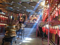 Chinese temple in Hong Kong Buddha Buddhism religion Royalty Free Stock Photo